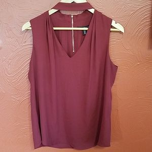 WHBM red sleeveless dress top size 8